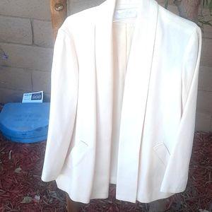 Vintage Swing coat blazer Cream shawl collar tie